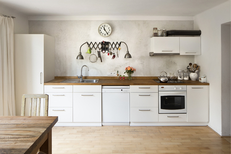 fridge lamp: New kitchen in a very modern industrial style