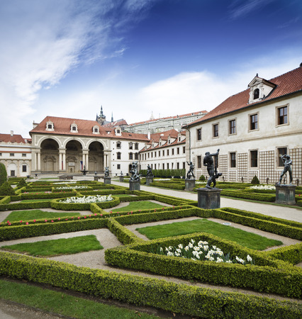 turistic: walleinstein palace at central Prague famous turistic place