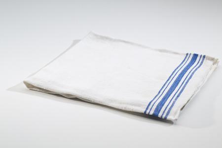 blue stripe: Cloth Kitchen linen white with blue stripe