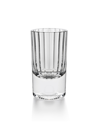 photoshop: empty shot glass isolated on white background with photoshop path