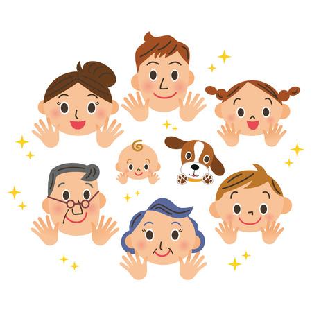 perro familia: Retrato de la familia