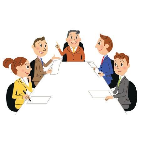 zakelijke bijeenkomst Stock Illustratie