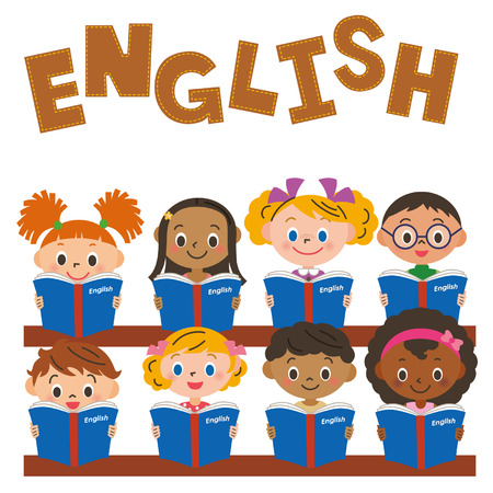 children making an English study