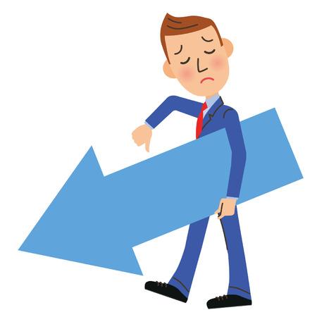 slump: sales down businessman