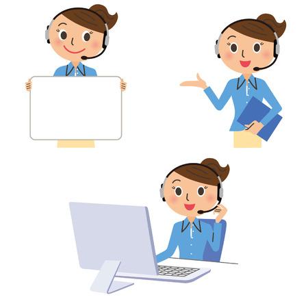 businesswoman operator Illustration
