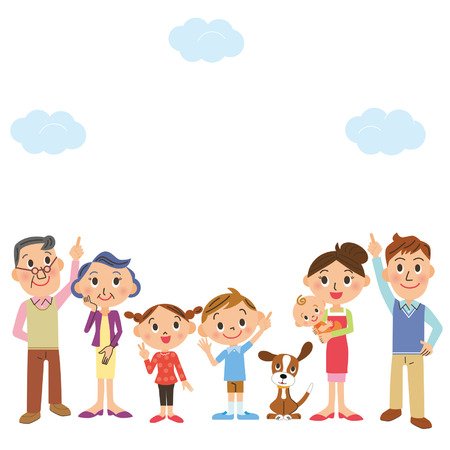 older men: The family who looks up at the, sky