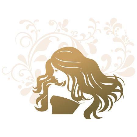 beauty treatment salon: Beauty treatment salon silhouette woman Illustration