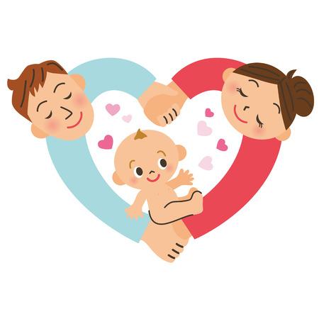 naissance de bébé Vecteurs