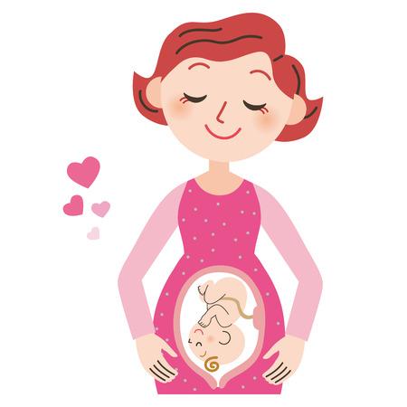 妊娠中の女性と赤ちゃん