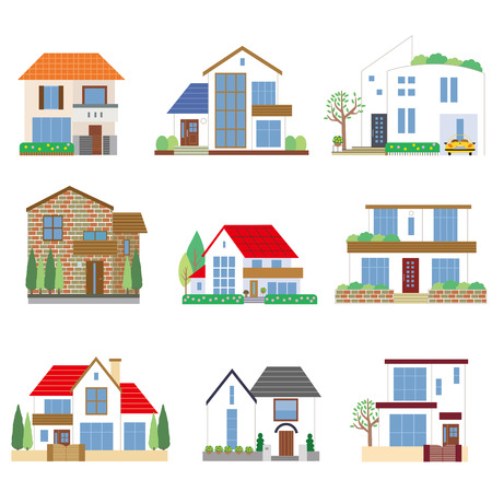 Many houses Vector