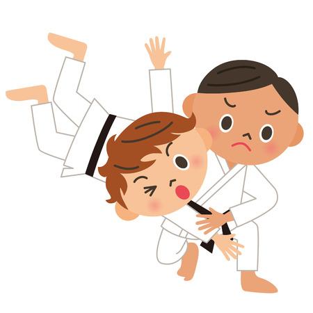 judo: Karate, judo, back throw