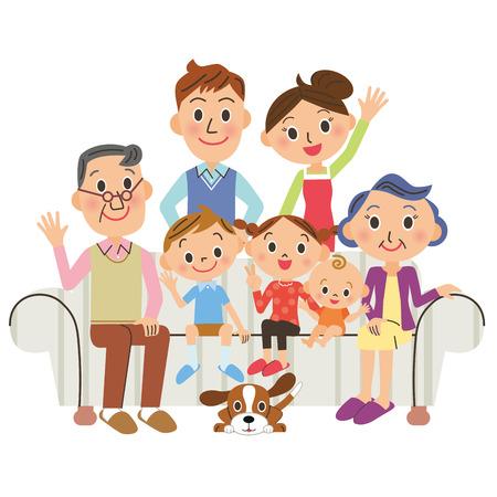 perro familia: El, familia viviendo tercera generación