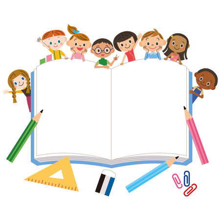 winter vacation: Big notebook and children