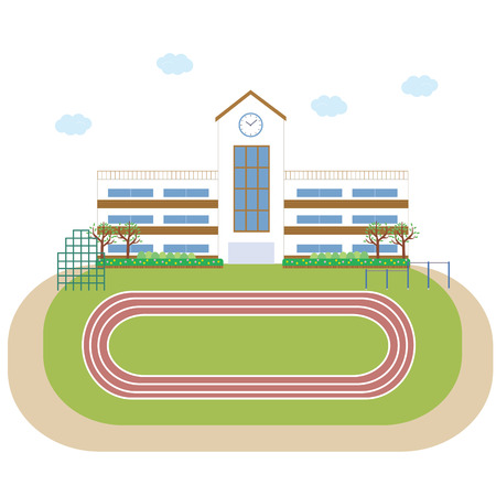 school gym: School school building building