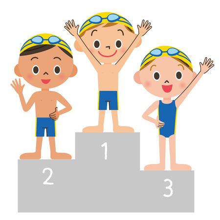 Swimming child order Illustration