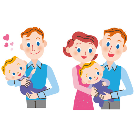 cuddle: Baby and parent and child