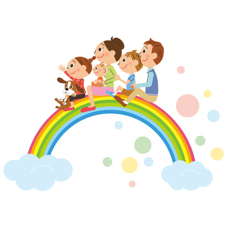 piggyback: The happiness family who got on the rainbow