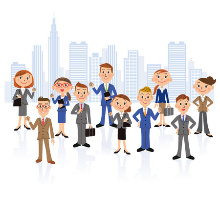 high society: office worker meeting Illustration