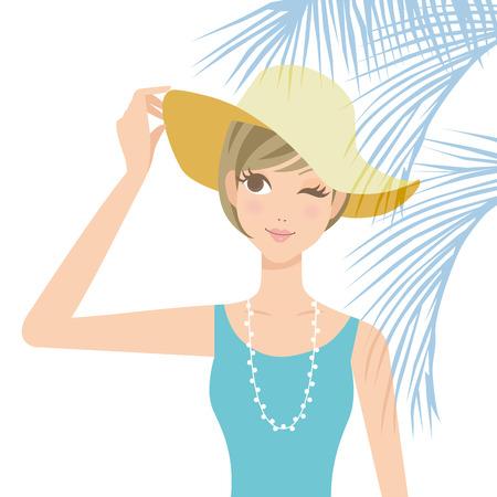 measures: Ultraviolet rays measures woman hat
