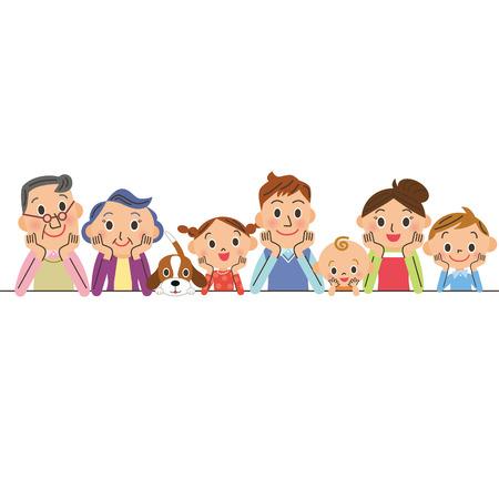 animal family: Family Illustration