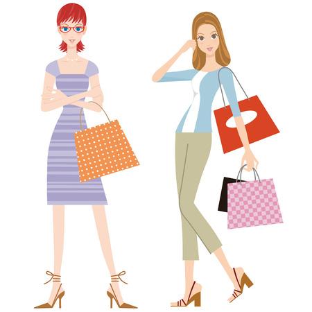 ガール フレンドが良い友人でのショッピングをお楽しみください。