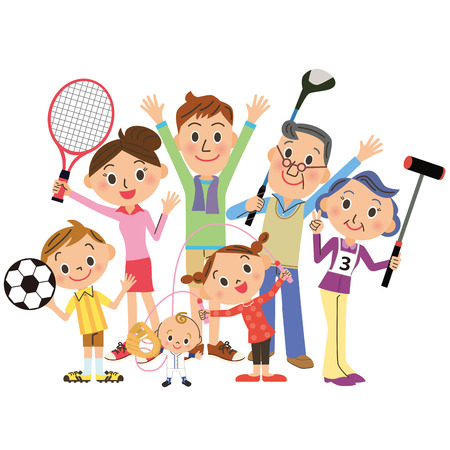 I enjoy sports with family Stock fotó - 30791323