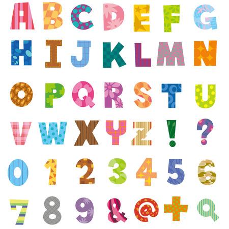 Les alphabets et des chiffres Banque d'images - 30791427