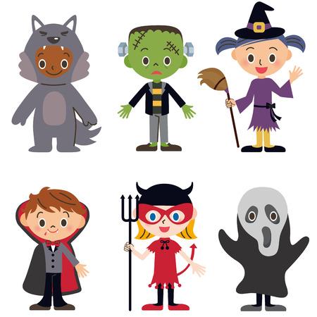 three cornered: Children whom the Halloween disguises itself as