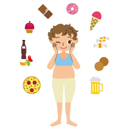 weight gain: Obese woman with the appetite
