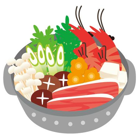 asian family fun: Pan illustration Illustration