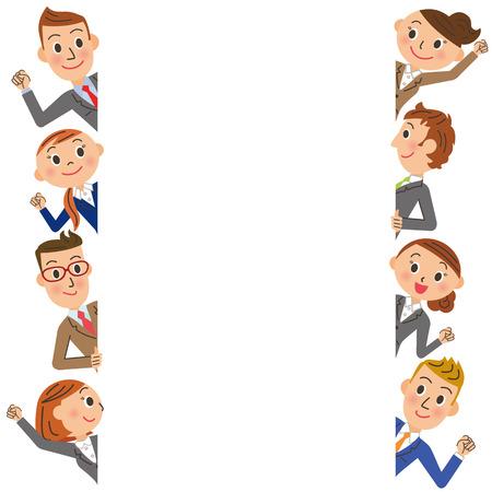 message board: Office worker frame Illustration