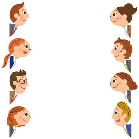 plural number: Office worker frame Illustration