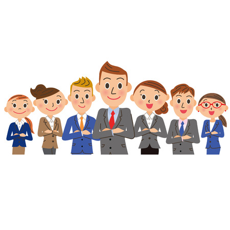 Male oriented businessman group