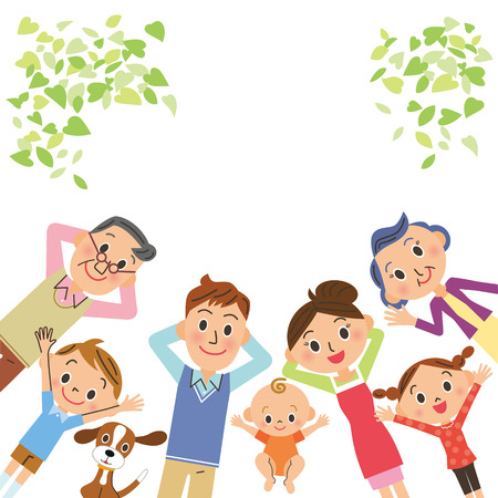 happy family: familiar de tercera generaci�n que se encuentra
