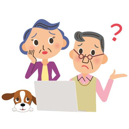 The old couple who is troubled to see, PC