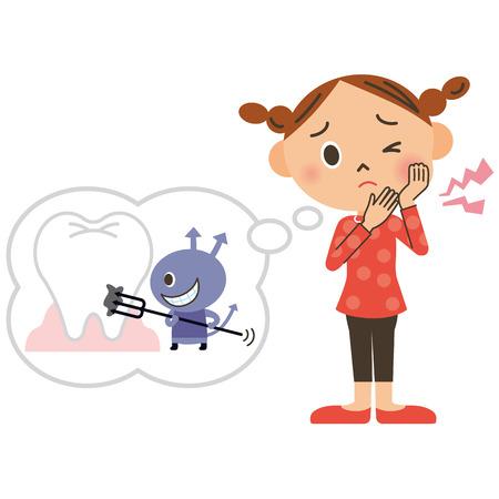 food hygiene: Girl of the cavity
