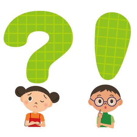 schoolkids: Child, trouble, problem Illustration