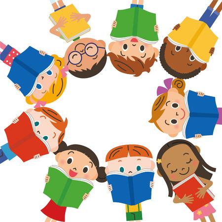 niños leyendo: Lectura de los niños