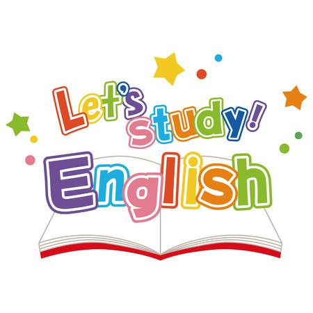 Estudio de Inglés Ilustración de vector