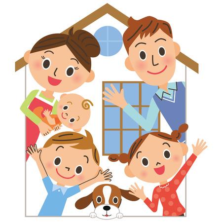 Family house  イラスト・ベクター素材