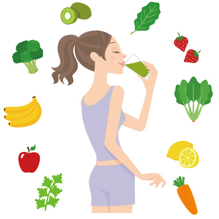 The woman who drinks a healthy drink