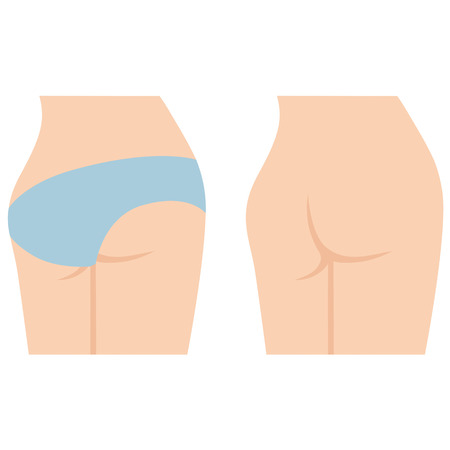 buttocks: Woman buttocks Illustration