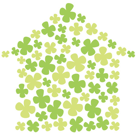 silhouette of the house with a clover