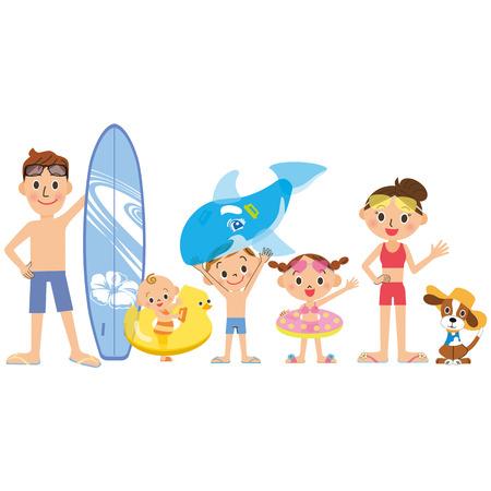 maillot de bain: Je vais à la mer de la piscine dans les familles