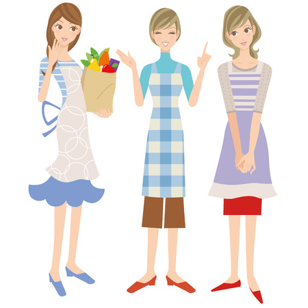talkative: Housewife in an apron Illustration