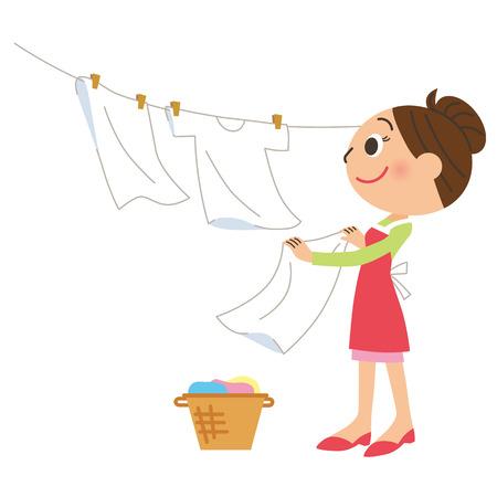 laundry: Mom who airs laundry
