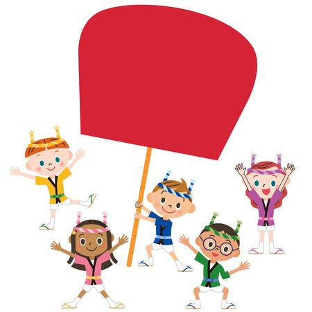 spring coat: children at festival