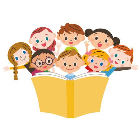 Reading children Illustration