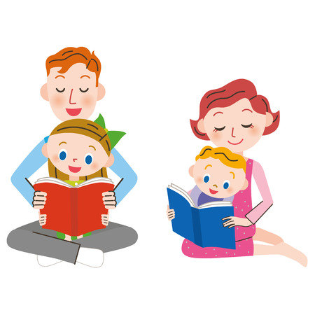 Parent and child who read a book