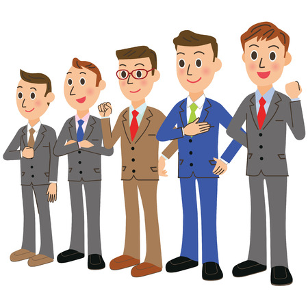 office worker: Office worker meeting Illustration